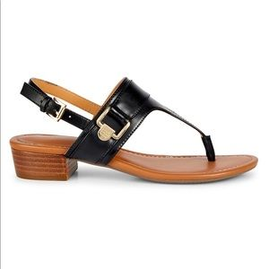 Keely Stacked Heel Thong Sandals